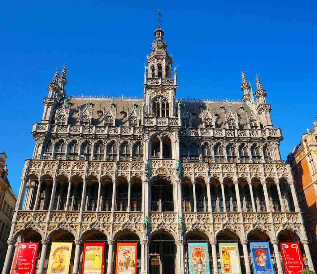 Some of the beautiful architecture that can be found in Grand Place which is one of the top things to do in Brussels.