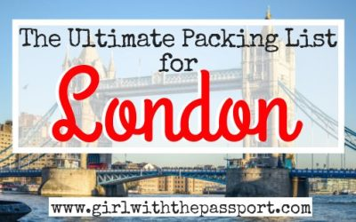 The Perfect London Packing List