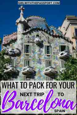 Planning some Barcelona Spain Travel? Then I have the perfect Barcelona packing list for you! Check out these 12 essential Barcelona travel tips to create the perfect Barcelona wardrobe. Find out what to wear in Barcelona and the secret to packing light while still looking good in Barcelona, Spain. #Barcelona #Spain #Travel #wanderlust #europe