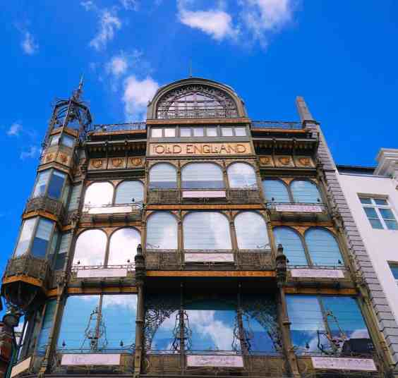 Wondering what to do in Brussels? Definitely make time to visit the beautiful art nouveau style, Old English building.