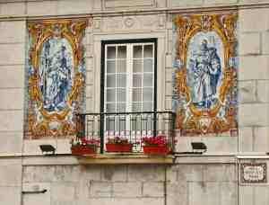 One example of the beautiful tile work that you can find in Lisbon, Portugal.