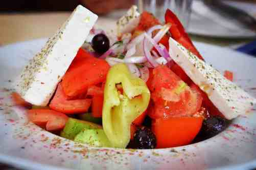 After such a busy day, you deserve to relax and enjoy some amazing Greek food, like this delicious Greek salad.