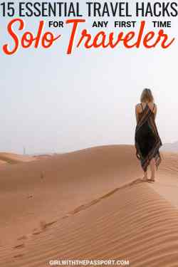 Planning to travel alone for the first time? Well, if you're a little nervous about solo travel then check out fifteen of my absolute favorite solo travel tips for anyone who is planning to travel alone for the VERY first time. Use these safety tips for traveling solo and you'll not only have a blast, but you may even create an awesome solo female travel network of your own. #travel #solotravel #wanderlust #traveltips