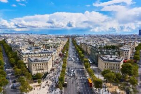The Iconic Champs-Elysees in Paris. I'll stroll down this avenue, as long as you give me a macaron at the end!