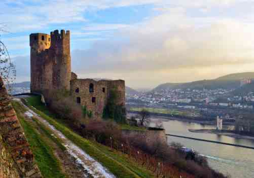 Explore one of the many charming castles found in Rüdesheim, Germany.