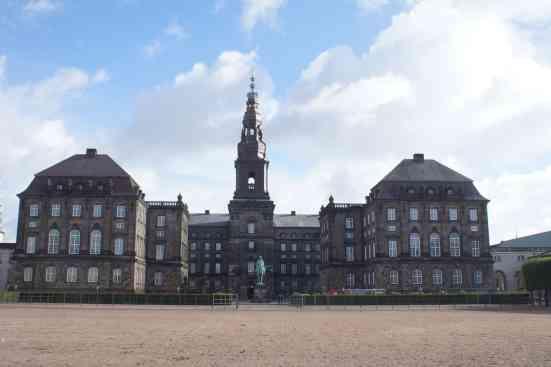 The beauty of Christianborg Slot in Copenhagen, Denmark.