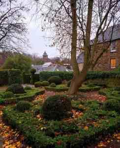 The quiet beauty of Dunbar's Close Garden along the Royal Mile.