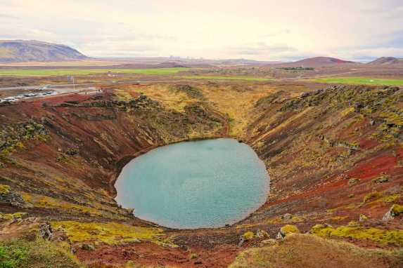 The natural beauty of Iceland's Kerið Crater.