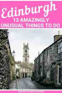 Want to visit Edinburgh, Scotland but have no idea where to go or what to see in Edinburgh? Then read an Edinburgh travel guide that will help you get off the beaten path and plan a unique trip to Edinburgh with 13 cool and unusual things to do in Edinburgh that everyone will love! #Edinburgh #Edinburghtravel #ExploreEdinburgh #VisitEdinburgh #Edinburghtrip
