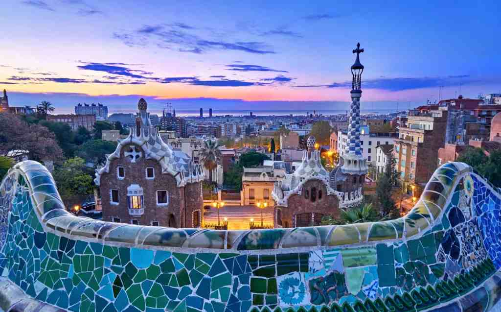 One of my top Barcelona tips is to visit Parc Guell at sunrise and get inside for FREE!