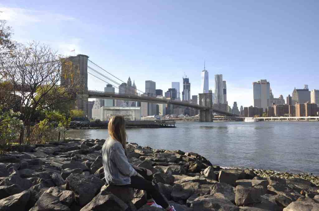 The Brooklyn waterfront at Dumbo is the perfect place to capture an Instagram awesome photo in NYC.