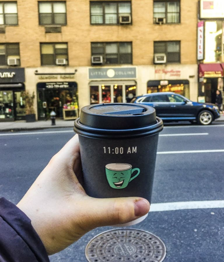 Be sure to stop by Little Collins and try their divine NYC coffee.