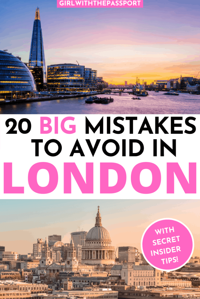 Traveling to London for the first time (or 20th)? Then check out this London travel guide that is filled with expert London travel tips for first time visitors. You'll also find 20 of the most common mistakes that newbie visitors make and find out how to avoid them, and any grossly overrated tourist traps. #londontravel #englandtravel #Londontraveltips #LondonGuide