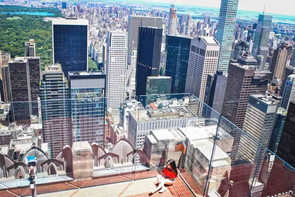 The amazing panoramic view of New York City from the Top of the Rock.