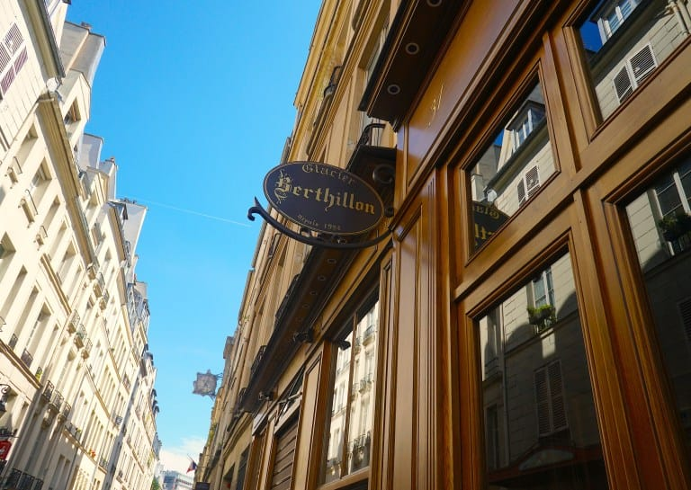 When visiting Paris in the summer, definitely stop by Berthillon Glace for some ice cream at least once!