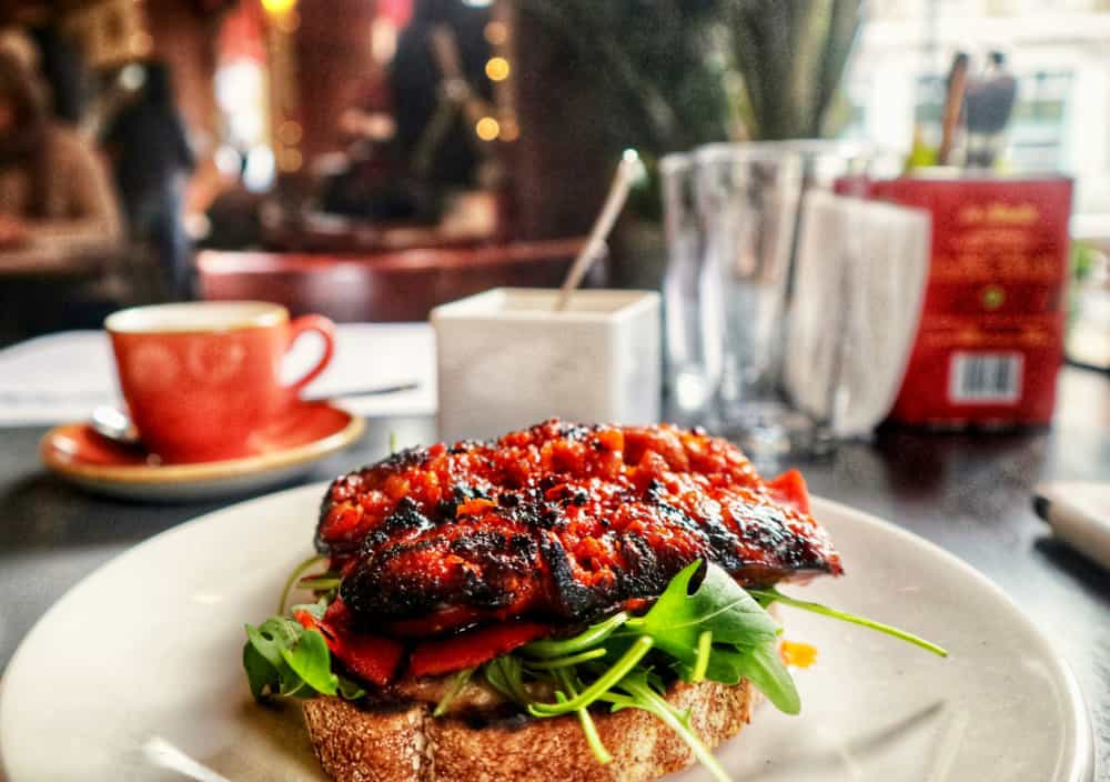 The chargrilled chorizo on sourdough  toast from Brindisa.