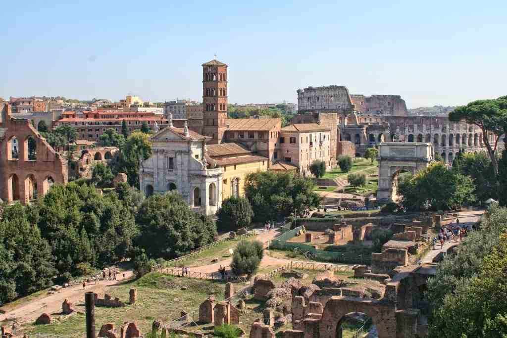 Take some time to stop and explore the historic beauty of the Roman Forum.