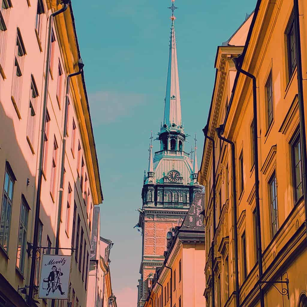 The old world charm and beauty of Gamla Stan in Stockholm.