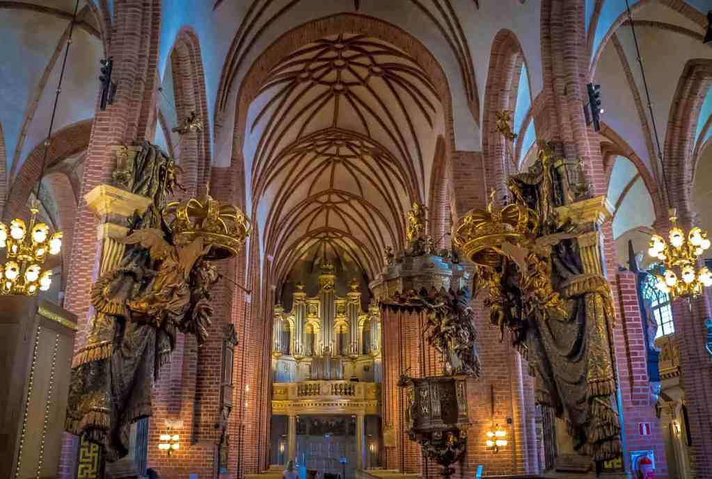 Take some time to see the amazing interior of Stockholm Cathedral.