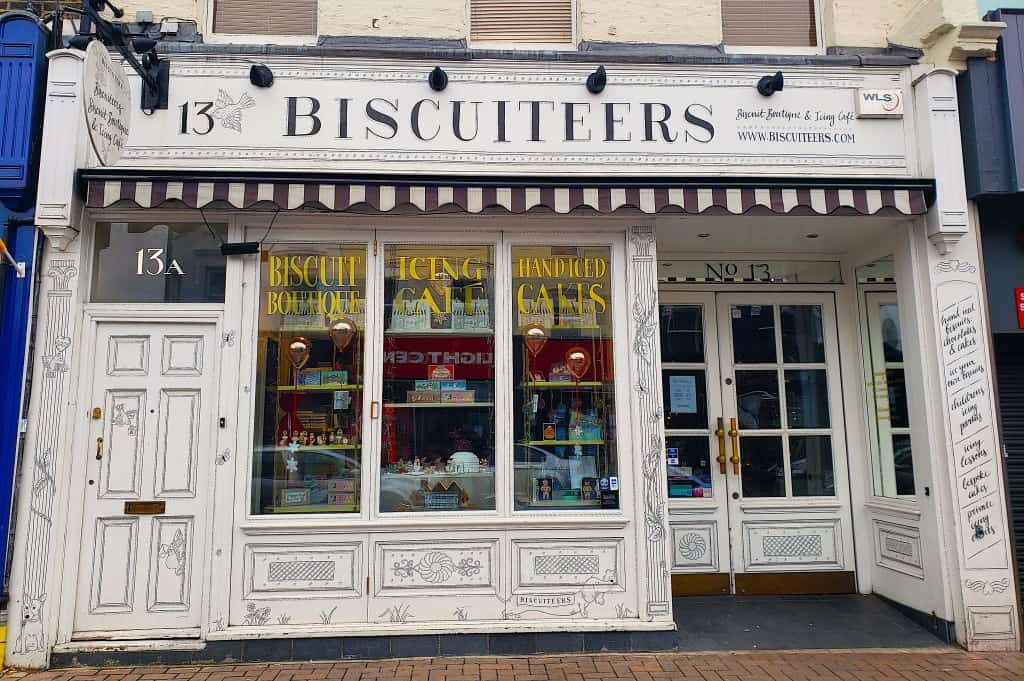 The immortal beauty fo the one and only Biscuiteers cafe in Notting Hill.