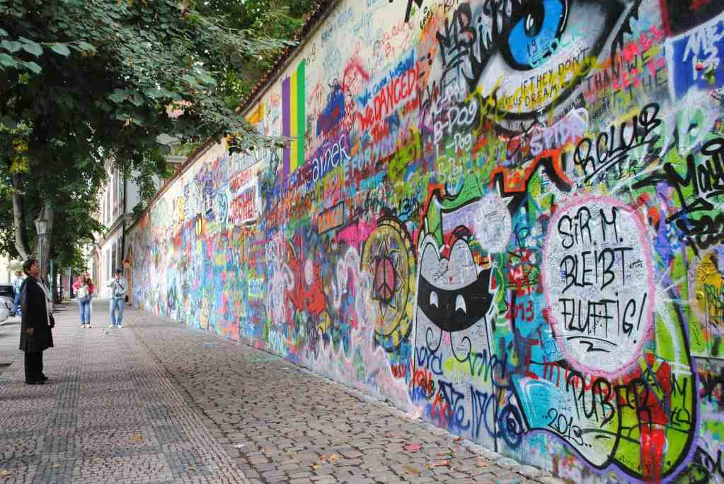 The simple beauty of Prague's John Lennon Wall.