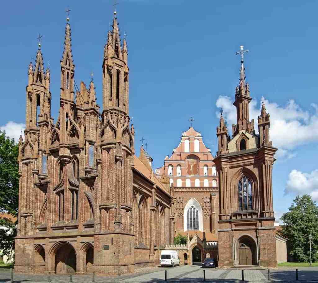 Beautiful St Anne's Church in Vilnius captivated the heart of even might Napoleon himself!