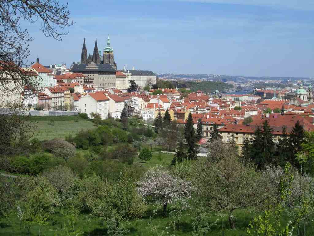 Some of the amazing views of Prague that you'll find at Petrin Park.