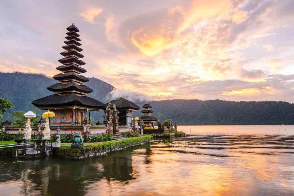 Pura Ulun Danu Bratan, one of the most famous Hindu temples in Bali.