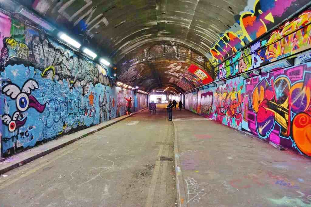 The vibrant, urban beauty of Leake Street Graffiti Tunnel.