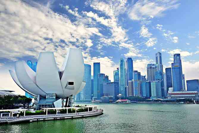 Some of the sweeping, panoramic views that you'll find at Singapore's Marina Bay.