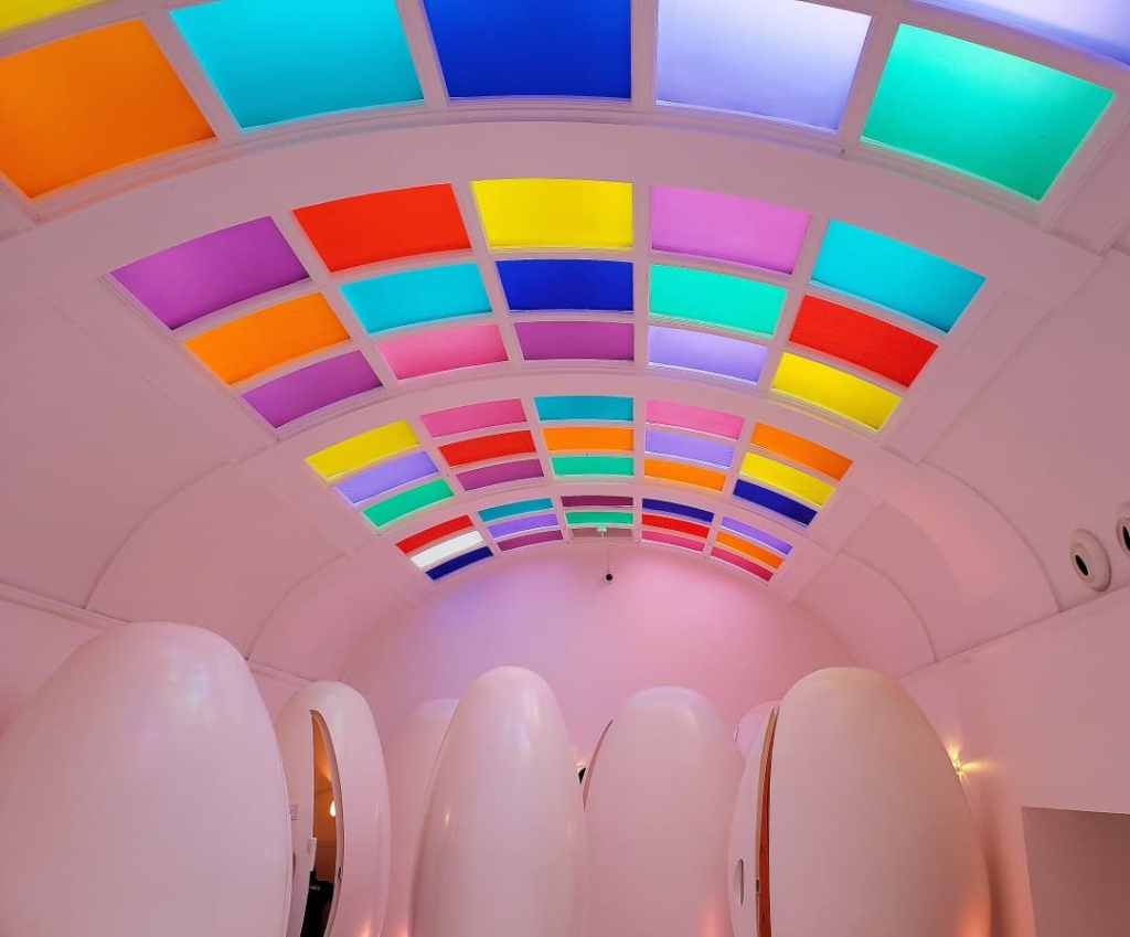 The insanely quirky beauty of Sketch's pod toilets.