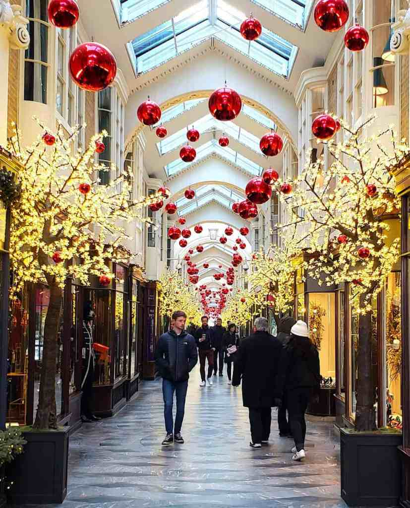 The Burlington Arcade is a beautiful, covered shopping arcade that is one of the prettiest places in London.