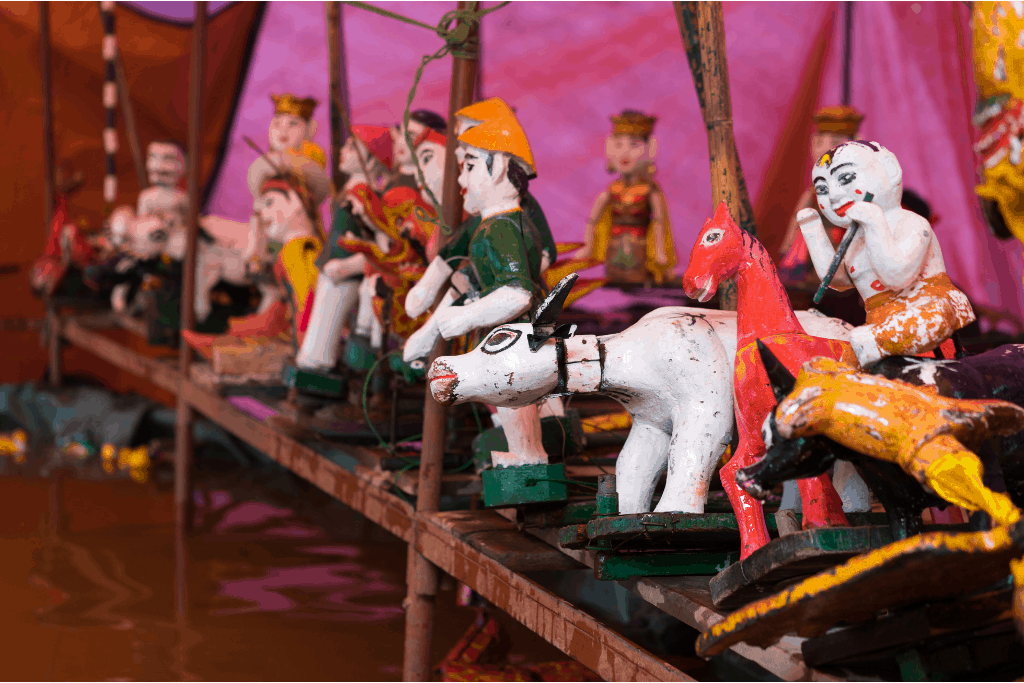 The ethereal, old-world beauty fo Vietnamese water puppets.