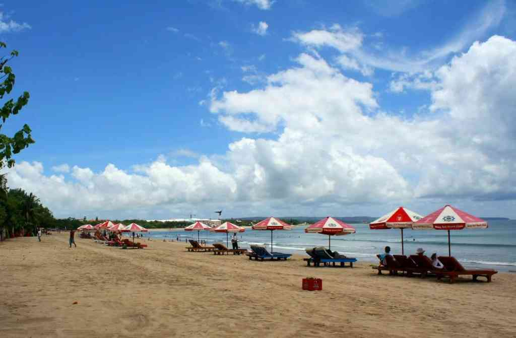 In Kuta, you can definitely relax on the beach as you recover from last night's hangover.