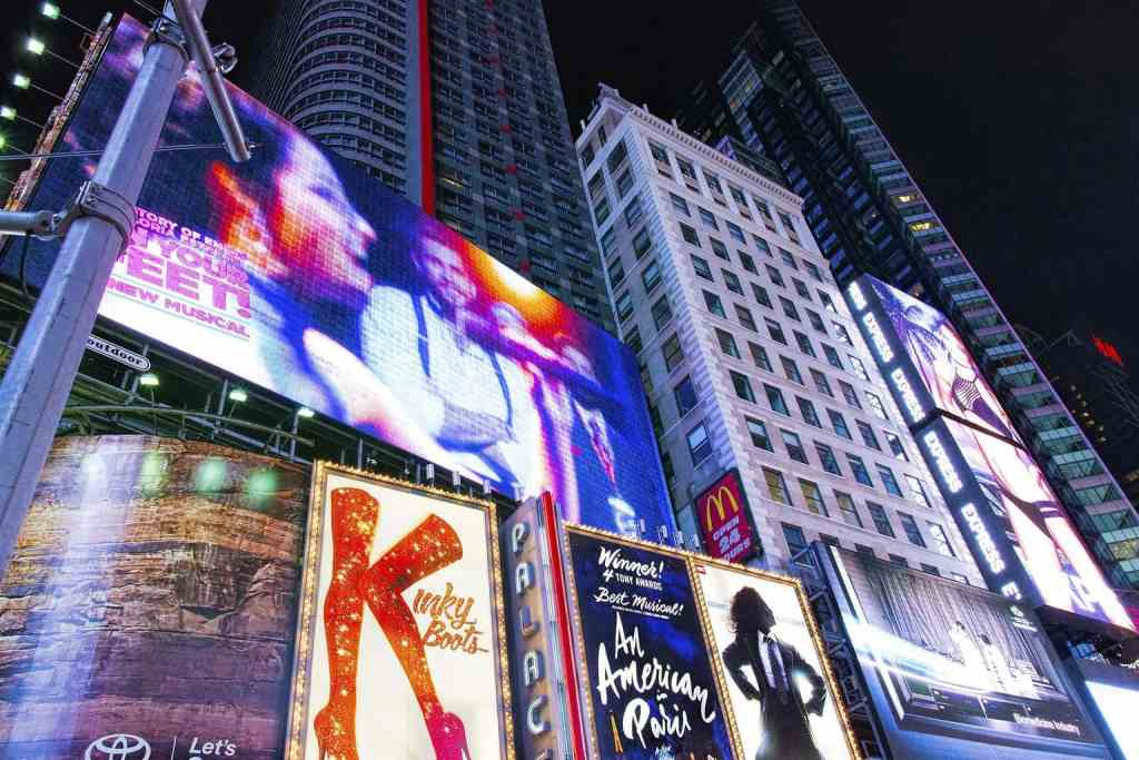 NYC would not be the same without the bright lights of Broadway.