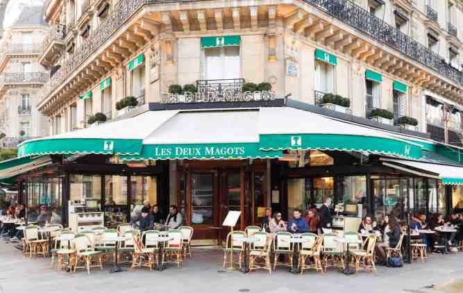 Because of its famous clientele, past and present, Les Deux Magots is one of the most famous cafes in Paris.