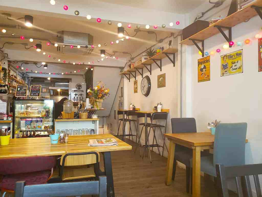 The quirky decor that you'll find at Bangkok's ever trendy, Breakfast Story.