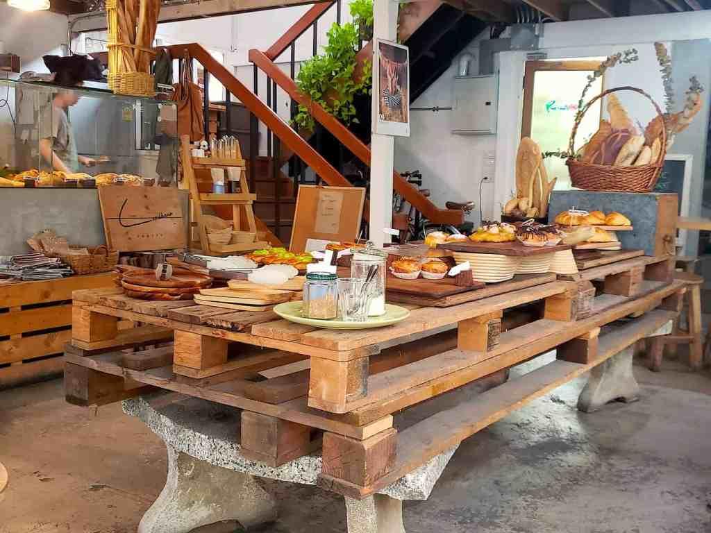The bonanza of baked goods that you'll find at Landhaus Bakery in Bangkok.