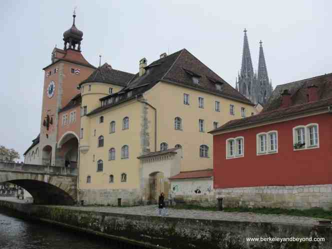 The small town beauty of Regensburg, Germany.