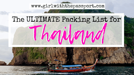 What to Pack for Thailand: 20 Thailand Packing List Essentials