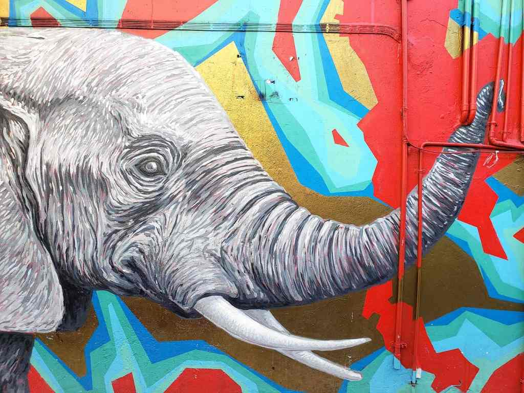 Some of the amazing street art that you'll find while walking through Bangkok.
