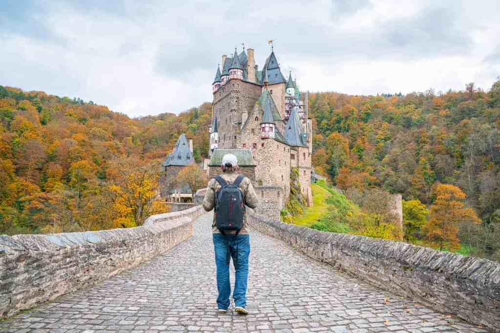 The medieval, Eltz Castle, which is located above the Moselle River, between the German towns of Koblenz and Trier.
