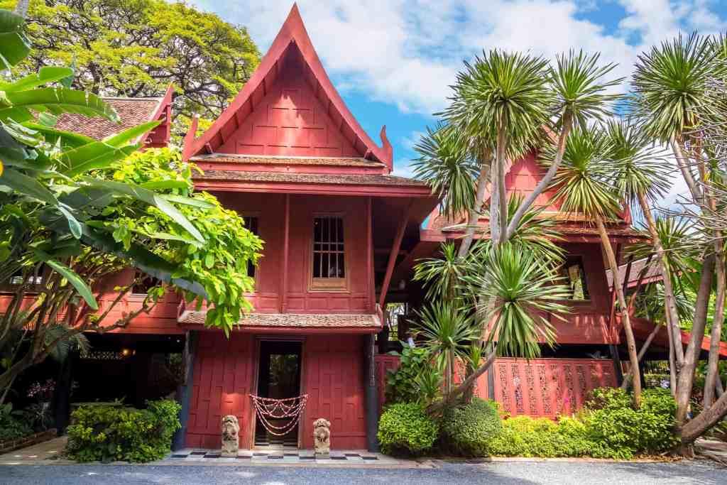 The beautiful, teak beauty of the Jim Thompson House Museum in Bangkok.