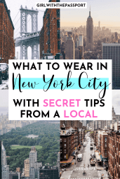 Not sure what to wear on your next trip to New York City? Then check out this ultimate packing list for NYC, filled with essential packing tips and tricks, from a local, that you'll need to help you create NYC outfits that are perfect for every season. #NYCOutfits #NYCTravel #RNYCGuide #NYCOutfits #NYCPackingGuide