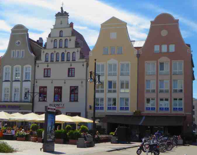The quaint charm of Rostock, Germany.