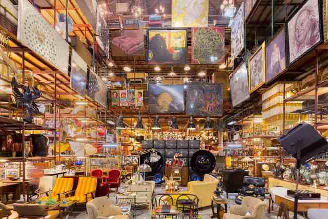 The vintage/retro beauty of Papaya Design and Furniture Studio in Bangkok.