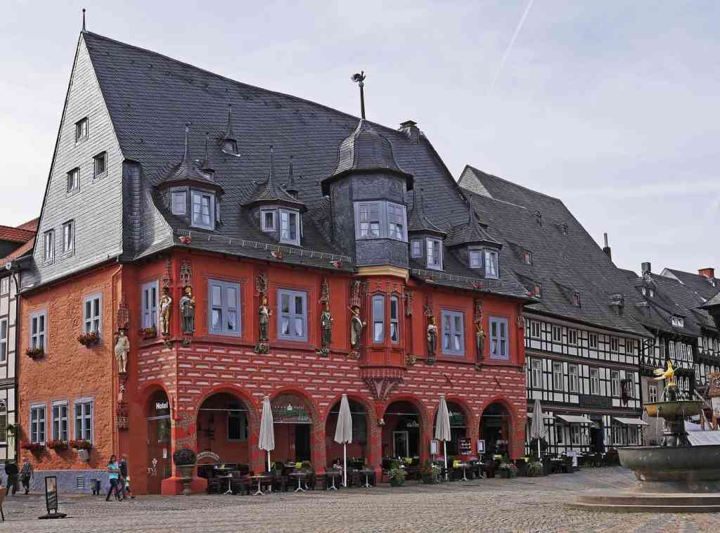 The old world charm on Goslar's iconic, marketplace.