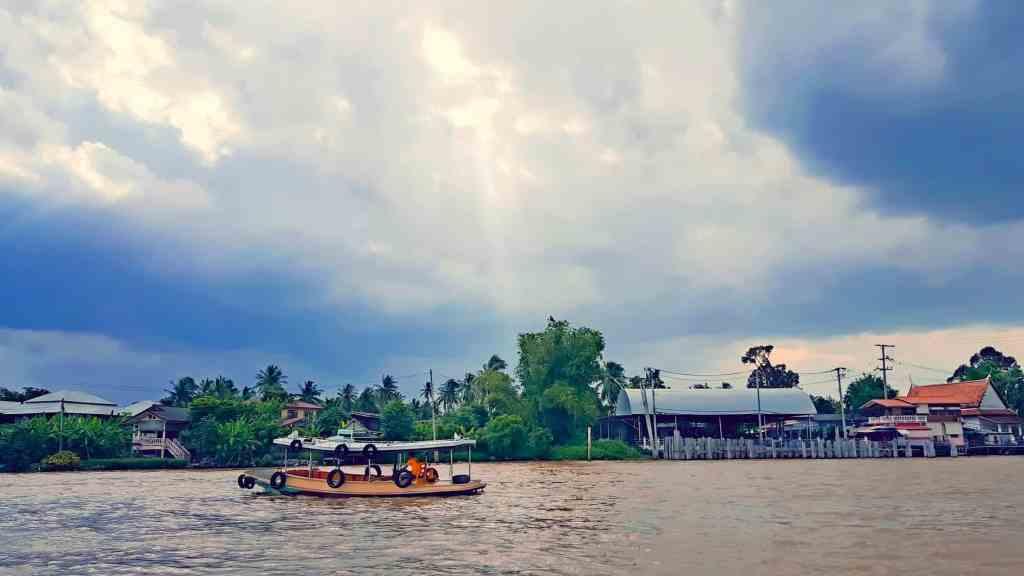 A view of Koh Kret island along the Chao Praya River in Bangkok.