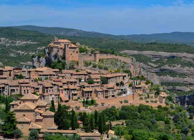 Some of the sweeping views you'll find in the tiny town of Alquezar in Northern Spain.