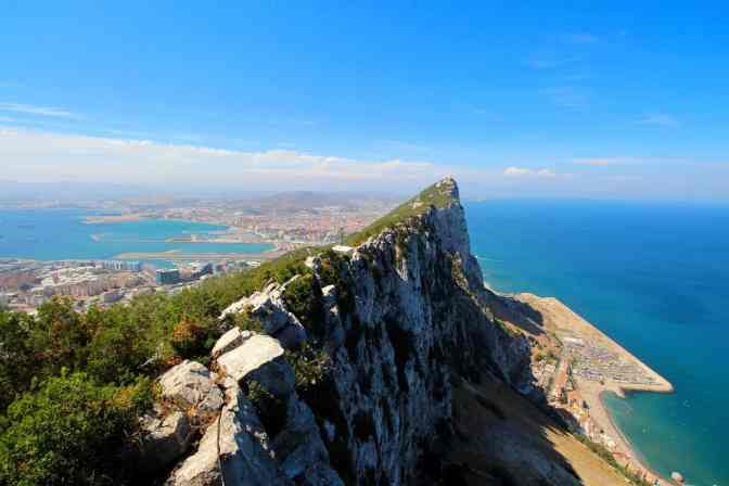 The enchanting, natural beauty of Gibraltar, a British territory at the southern tip of the Iberian Peninsula.